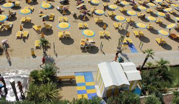 accesso in spiaggia per disabili